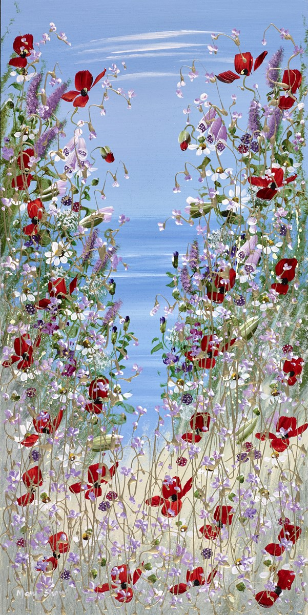 Summer View V by mary shaw -  sized 12x24 inches. Available from Whitewall Galleries
